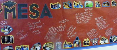 MESA banner with signatures